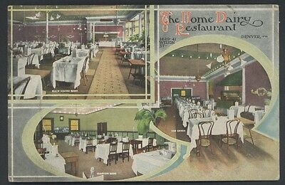 Dairy Home Denver Colorado Vintage Restaurant Interior Postcard
