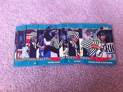Lot of 16 Referee hockey cards that are hand signed - very nice and rare!