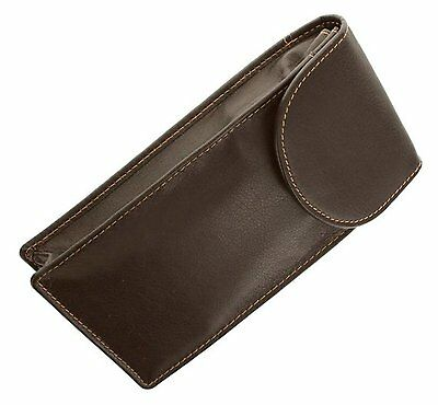 Quality Brown Double Soft Leather Glasses / Spectacle Case by Odyssey - 560
