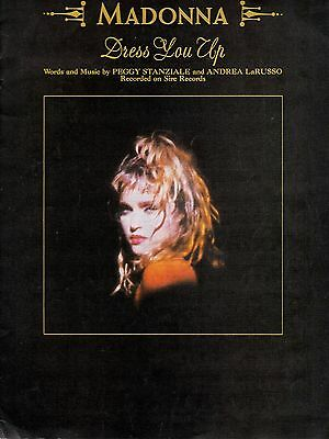 MADONNA Dress You Up Sheet Music 1985