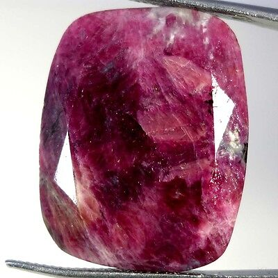 45.70Cts. 100% NATURAL MARVELOUS RED GREEN RUBY ZOISITE CUSHION CUT A+ GEMSTONES