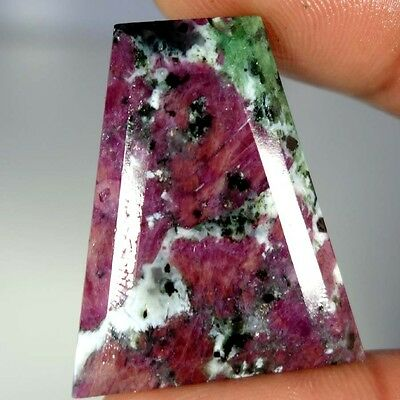 65.70Cts. 100% NATURAL ADORABLE RED GREEN RUBY ZOISITE FANCY CUT ROYAL GEMSTONES