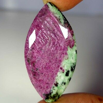 95.20Cts. 100% NATURAL ADORABLE RED GREEN RUBY ZOISITE MARQUIS CUT AAA GEMSTONES