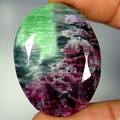 79.00Cts 100% NATURAL AFRICAN RED GREEN RUBY ZOISITE SUPERIOR OVAL CUT GEMSTONES