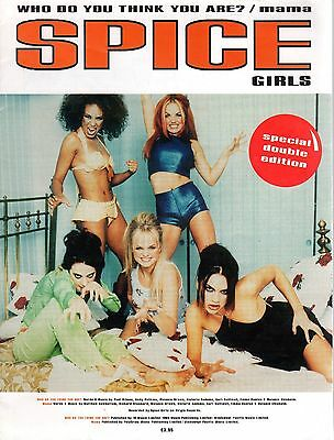 SPICE GIRLS Who Do You Think You Are? / Mama Sheet Music 1996