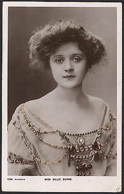 Actress. Miss Billie Burke. 1905 Posted Colour Tinted Photo Postcard