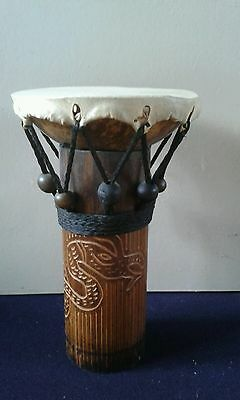wooden african style ornamental drum