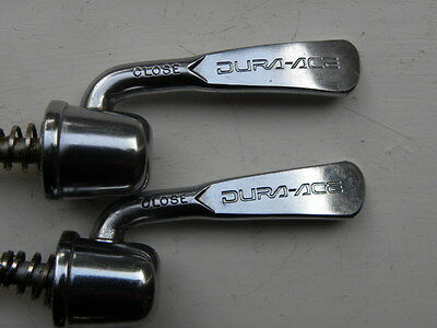SHIMANO DURA - ACE SKEWERS / SKEWER SET FRONT & REAR SUPERB CONDITION campagnolo