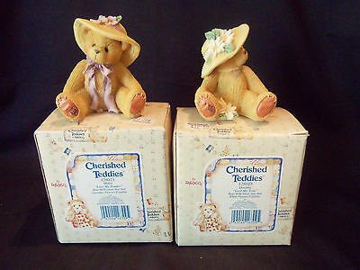 "Cherished Teddies ""Millie"" & ""Dorothy""  Set of 2 Figurines #128023 - New in Box"