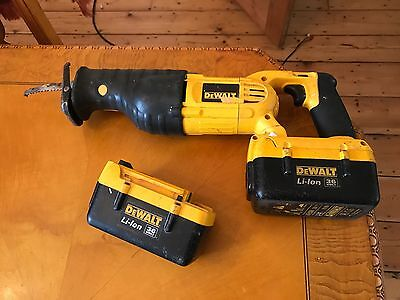 "DeWalt DC305 36v Cordless  Recipro Sabre Saw + Batteries ""untested"""