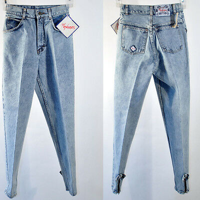 Vintage No Excuses Tapered Zipper Bow Accent High Waist Denim Jeans Size 5