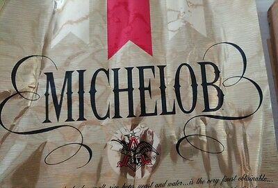 Vintage 15 x 18 Inch Michelob Sign Contact Type Paper