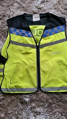 equisafety polite hi vis waistcoat and hat band (L)