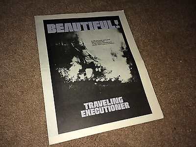 TRAVELING EXECUTIONER Movie PB Herald 1970 Stacy Keach Horror Comedy