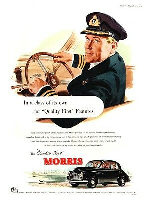 MORRIS CARS - Naval Officer - Cowley, Oxfordshire    (1952 Advertisement)