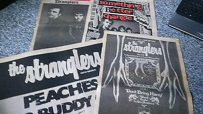 Stranglers Rare clippings and adverts