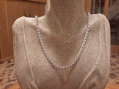 Brand new Silver 925 stamped heavy spiral Necklace with gift box