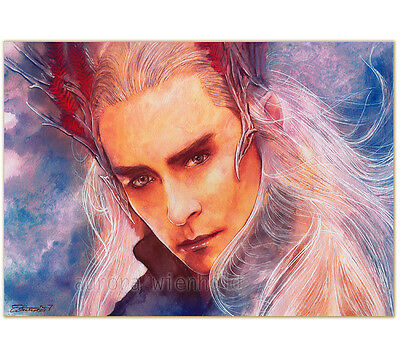 Sale - Druck/print- Signiert/signed Lee Pace Thranduil Hobbit Lord Of The Rings
