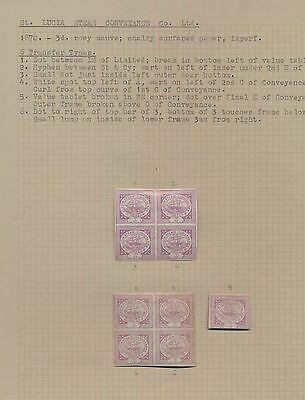 1870 St. Lucia Steamship Conveyance company - 3d rosy mauve - page of GENUINE