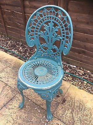 Ornate Metal Chair Shabby Heavy Old  Kent