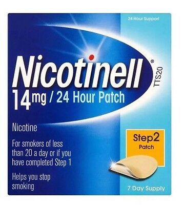 Nicotinell 14mg/24 Hour 7 Patches Step 2 Patch Help Stop Your Craving ( 04/18 )