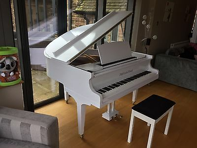 White High Gloss Baby Grand Piano