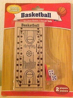 Wooden Travel Games Basketball. Free Shipping Brand New