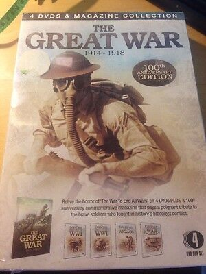 Great War 4 DVDs And Magazine 1914 1918