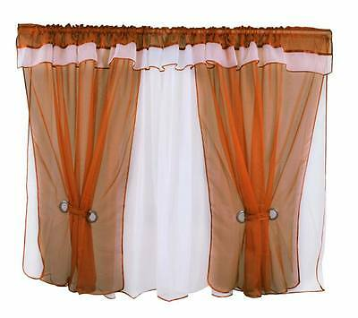 New Amazing Voile Net Curtain Ready Made Living Dining Room Light Brown Modern