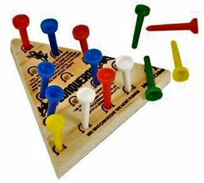 Wooden Travel Games PEG GAME. Free Shipping Brand New