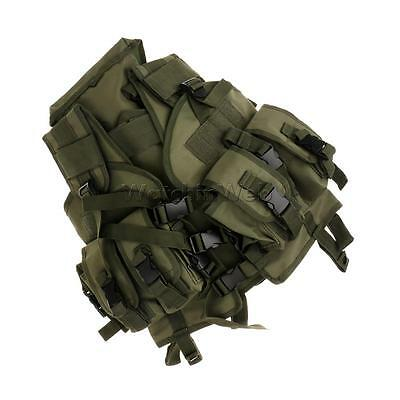 Military Airsoft Tactical Combat Hunting Lightweight Vest with Holster Pouch