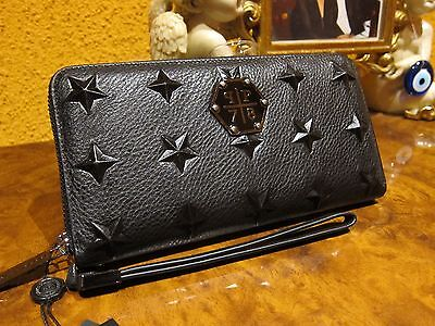 "NEW Super trendy Philipp Plein ""STARS"" leather Wallet, Unisex"