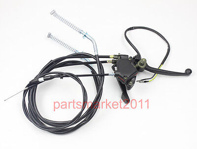 Dual Brake Cables Thumb Throttle Cable Switch Lever Assy 150CC 250CC ATV Quad