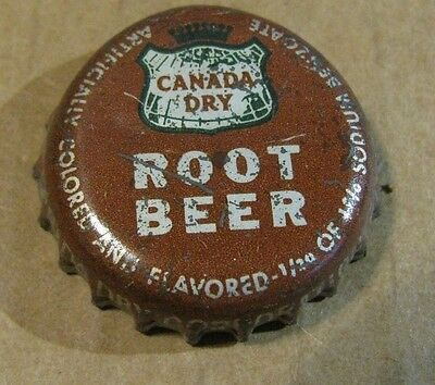 Canada Dry  Root Beer  Cork Bottle Cap Hudson  New York