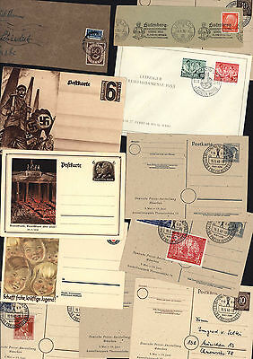 Germany 1930 - 1950 Postcards Postkarte Covers Stationary Used and Unused