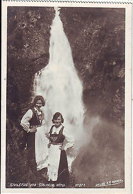 Norway Norge Silvefos & Stalheim Hotel Waitresses Country Costune Dress postcard