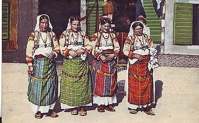Montenegro Country Women Costume Dress old postcard