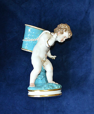 Antique Porcelain Boy Figurine with Basket A/F Possibly Minton