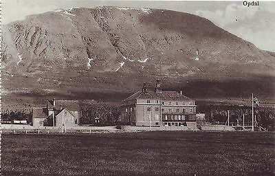 Norway Norge Opdal - Total View old unused postcard from booklet