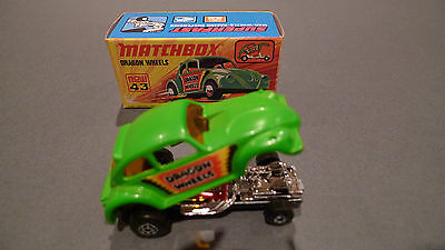 Vintage Matchbox No43 Dragon Wheels - Boxed in Mint Condition