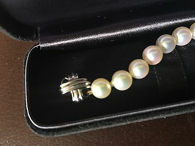 Tiffany Pearl Double Sided X Bracelet Box & Papers