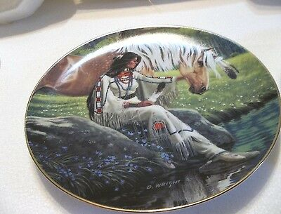 Hamilton Collections plates(3) 1992 AmericanEagle,Prairie Flower, Mystic Warrior