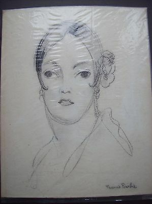 Francis Picabia  (1879 - 1953)  pencil drawing of a women signed