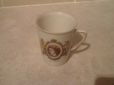 mug, queens coronation,1953, durham china, vintage / collectable