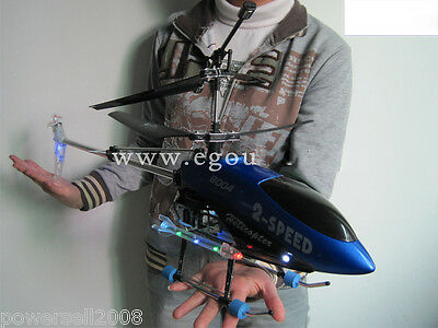 New Blue Length 75CM Remote Control Plane Helicopter Model Gift Children Toys