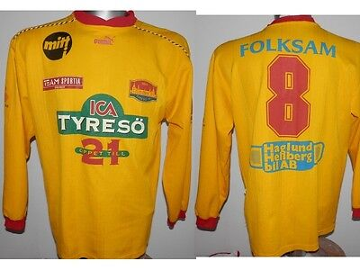 Rare Tyreso FF #8 L/S Sweden Club home shirt jersey football women size M / 6