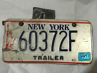 TRAILER w/ MOUNTING BRACKET Vintage New York NY STATUE OF LIBERTY License Plate