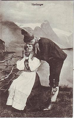 Norway Norge Hardanger - Romance Country Dress Costume old postcard