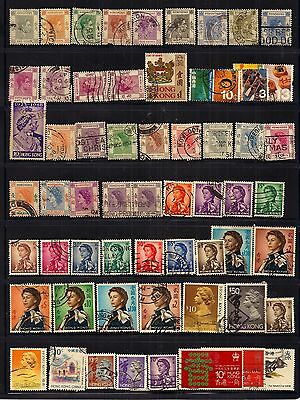 Hong Kong-Selection Of Gvi To Qeii,fine Used .very Good Lot.high Cat.