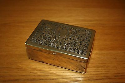 Vintage Brass Box by State Express ~ Collectable